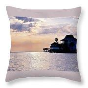 Lake Como On The Gulf Coast Sunset Throw Pillow