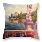 Lake Como View Throw Pillow