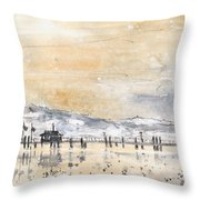 Lake Constance In Winter Throw Pillow
