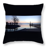 Lake Constance Sunrise Throw Pillow