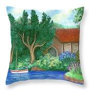 Lake Cottage Throw Pillow