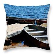 Lake Dock Throw Pillow