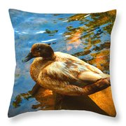 Lake Duck Vignette Throw Pillow