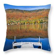 Lake Elmore Autumn Throw Pillow