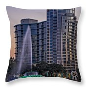 Lake Eola Water Fountain  Throw Pillow