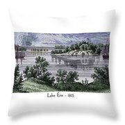 Lake Erie - 1815 Throw Pillow