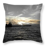 Lake Erie Lights Throw Pillow