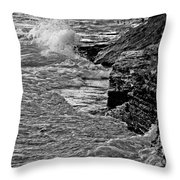 Lake Erie Waves Throw Pillow