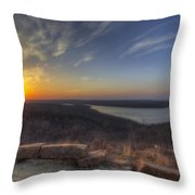 Lake Eufaula Sunrise A Throw Pillow