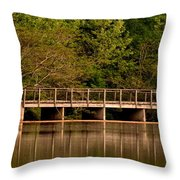Lake Forest Bridge Throw Pillow