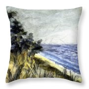 Lake From The Dunes Throw Pillow