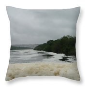 Lake Froth Throw Pillow