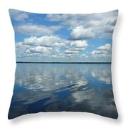 Lake Full Of Clouds Throw Pillow