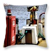 Lake Gas Depot Throw Pillow