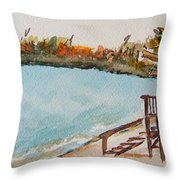 Lake Geneva Shoreline Throw Pillow