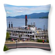 Lake George Cruise Throw Pillow