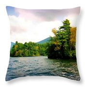 Lake George Islands In Summer Throw Pillow