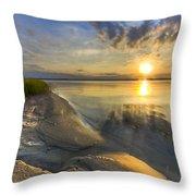 Lake Glow Throw Pillow