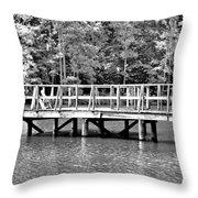 Lake Greenwood Pier Throw Pillow
