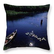 Lake Guiding Sports Fishing Throw Pillow