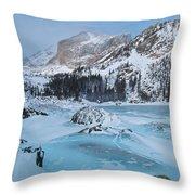 Lake Haiyaha Winter Throw Pillow