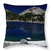 Lake Helen At Mt Lassen Triptych Throw Pillow by Peter Piatt