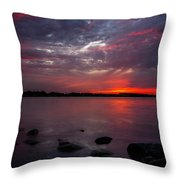 Lake Herman Sunset Throw Pillow