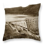 Lake Hodges And Dam San Diego County California  1952 Throw Pillow
