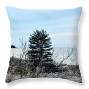Lake Huron Landscape Throw Pillow