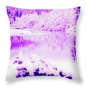 Lake And Ice Throw Pillow