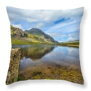 Lake Idwal Throw Pillow