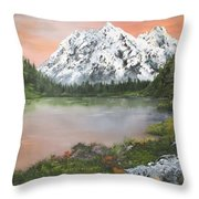 Lake In Austria Throw Pillow