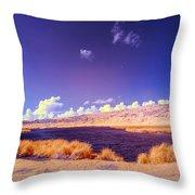 Lake In Rano Raraku Crater Throw Pillow