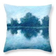 Lake In The Morning Throw Pillow