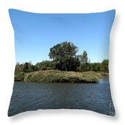 Lake Kirsty At Tifft Nature Preserve Buffalo New York Throw Pillow