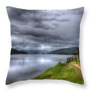 Lake Koocanusa At Libby Dam Throw Pillow