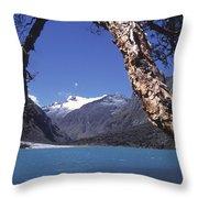 Lake Llanganuco Peru Throw Pillow