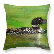 Lake Loon Throw Pillow