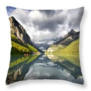 Lake Louise Banff National Park Throw Pillow