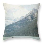 Lake Louise Solitude - Alberta Canada - Square Throw Pillow