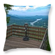 Lake Lure Overlook Throw Pillow