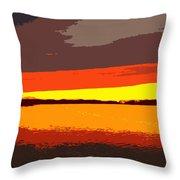 Lake Macatawa Sunset Throw Pillow
