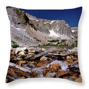 Lake Marie Snowy Range Throw Pillow