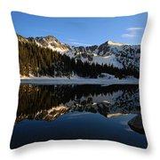 Lake Mary Brighton Utah Throw Pillow