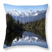 Lake Matheson New Zealand Throw Pillow