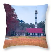 Lake Mattamuskeet Pumping Station Throw Pillow