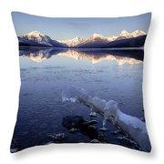 Lake Mcdonald Winter Throw Pillow