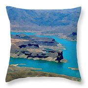 Lake Mead Aerial Shot Throw Pillow