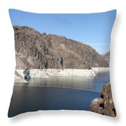 Lake Mead At Hoover Dam 2 Throw Pillow