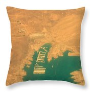 Lake Mead From The Air Throw Pillow
